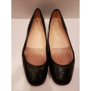 Christian Louboutin black patent leather flats